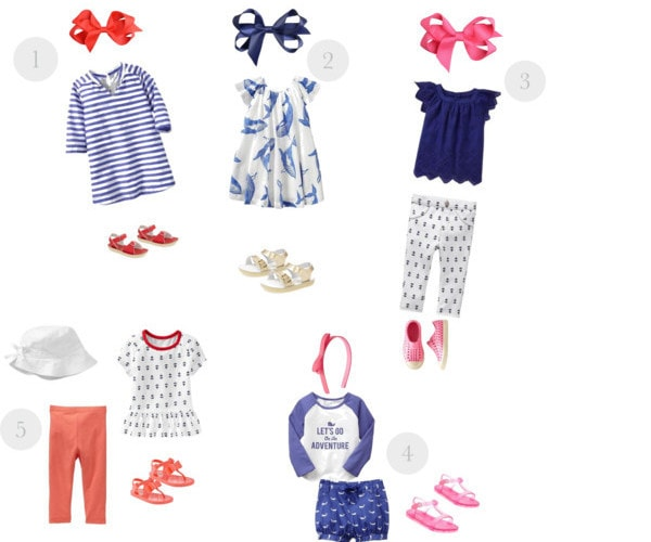 Nautical Baby Girl and Toddler