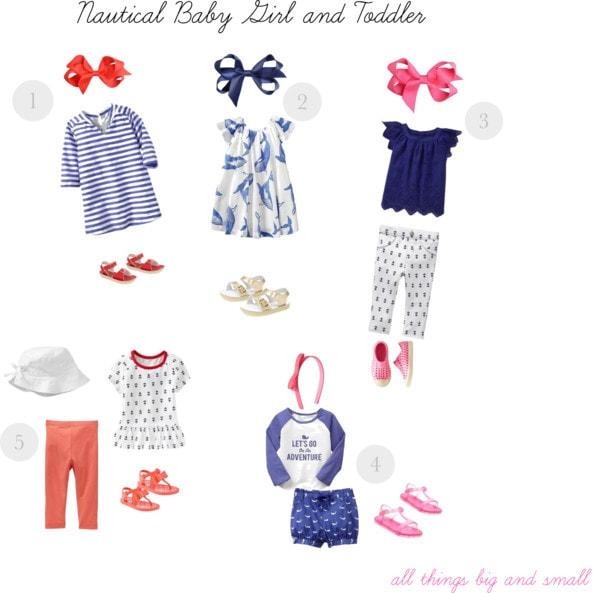 Nautical Baby Girl and Toddler