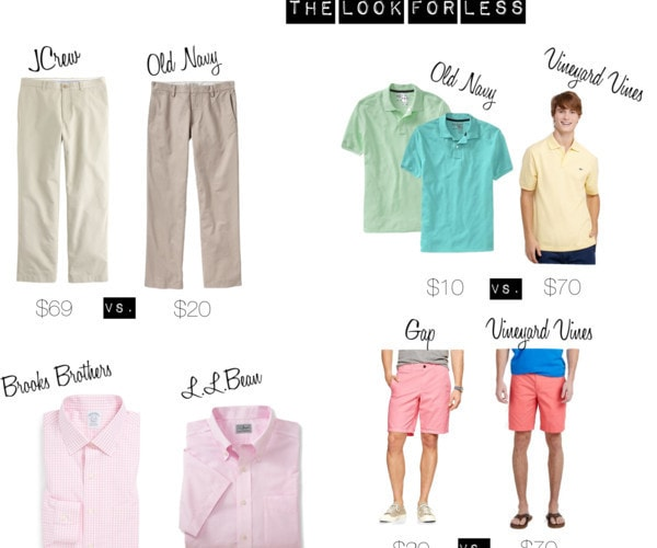 Guys Preppy Basics: The Look for Less