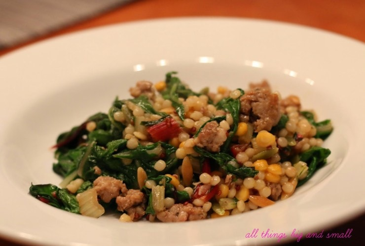 Sunday Suppers: Israeli Couscous and Swiss Chard