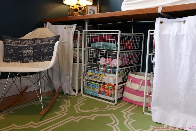 small nursery | how to set up a baby room in a small room | small room | small space living | small nursery | baby | baby nursery | All Things Big and Small Blog