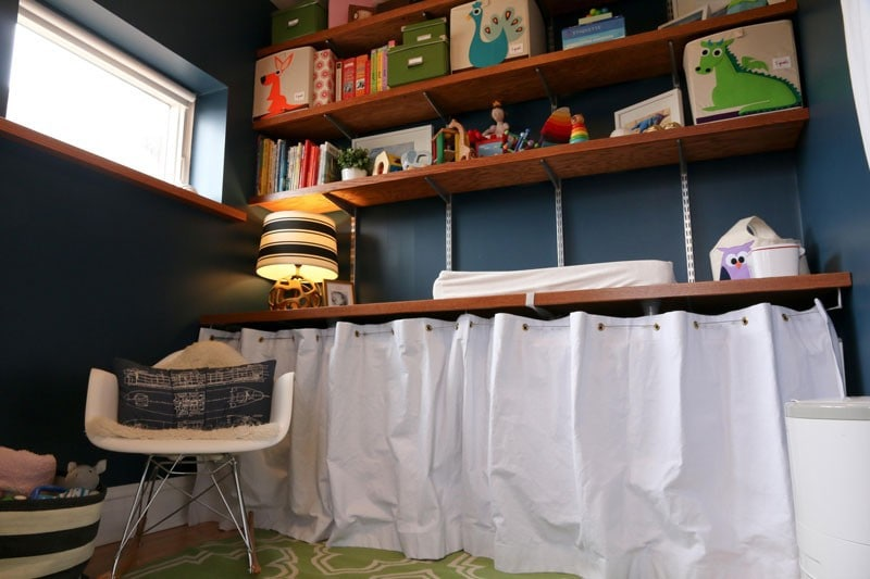 how to set up a small nursery | nursery in a small room | baby in small room | small space living with kids | All Things Big and Small Blog
