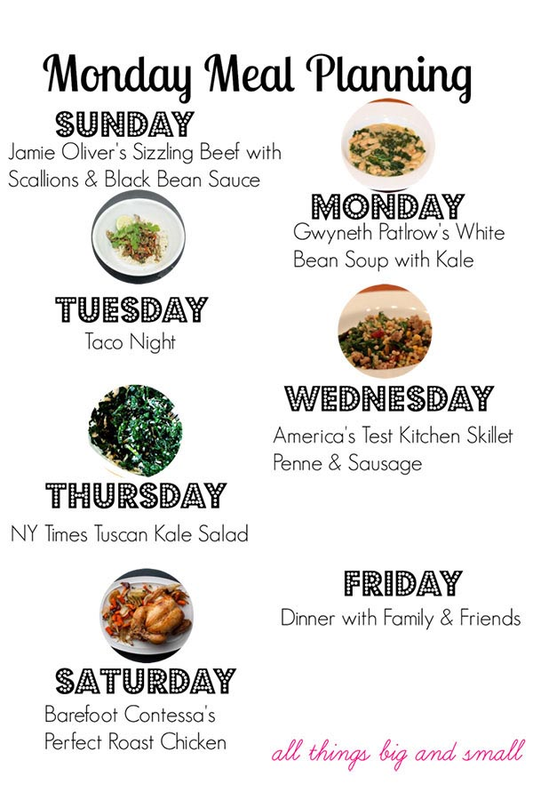 Monday Meal Planning 2