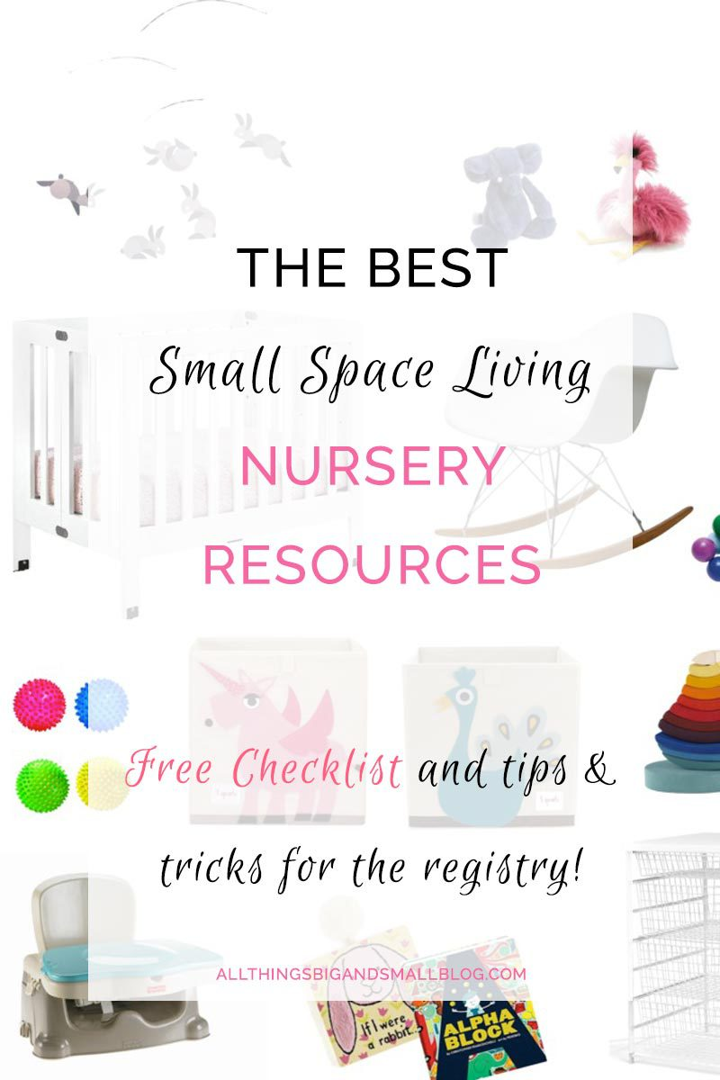 small nursery | small space living | apartment with baby | All Things Big and Small Blog