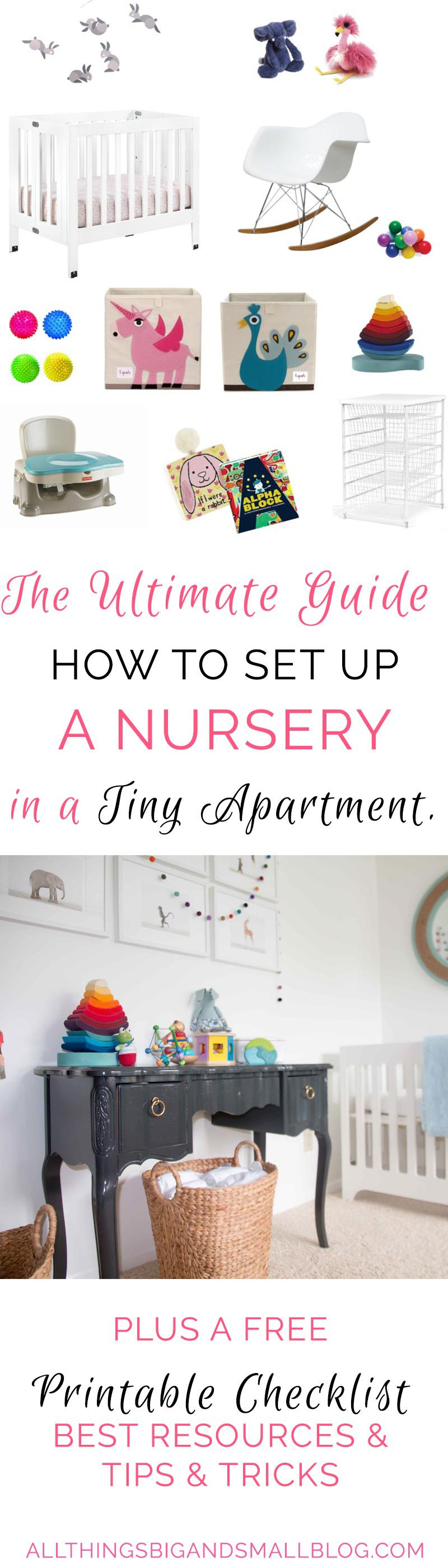 how to set up a nursery in a small room | small nursery | The Ultimate Guide: Small Space Living with a Baby by popular home decor blogger DIY Decor Mom