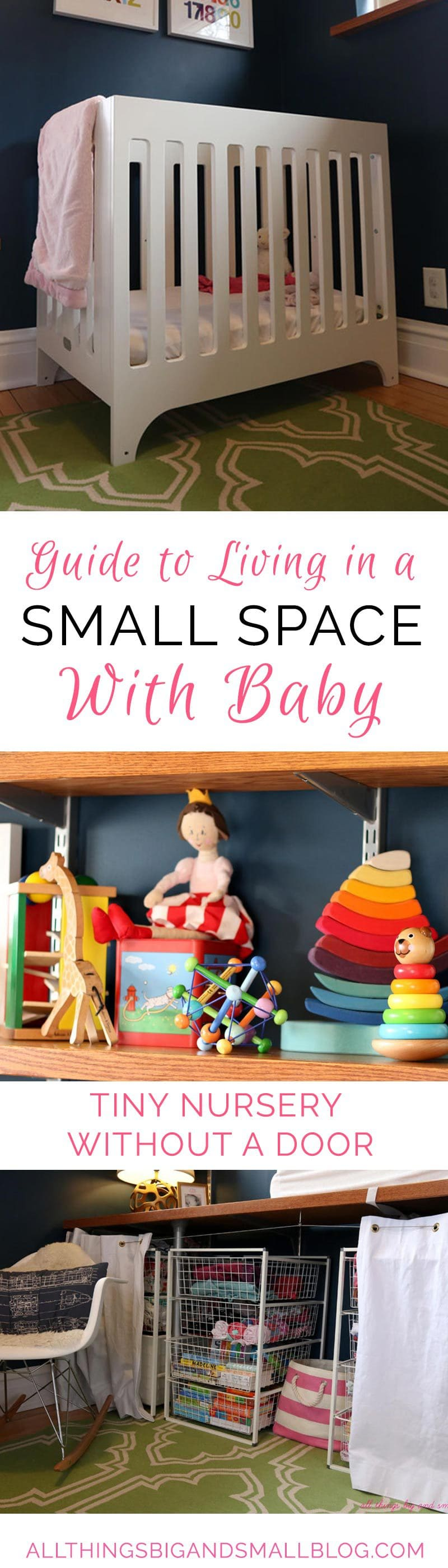 How To Live in a Small Space With Kids | Small Space With Baby | Small Nursery | Small Apartment With Kids | Small Space With Family | The Ultimate Guide: Small Space Living with a Baby by popular home decor blogger DIY Decor Mom