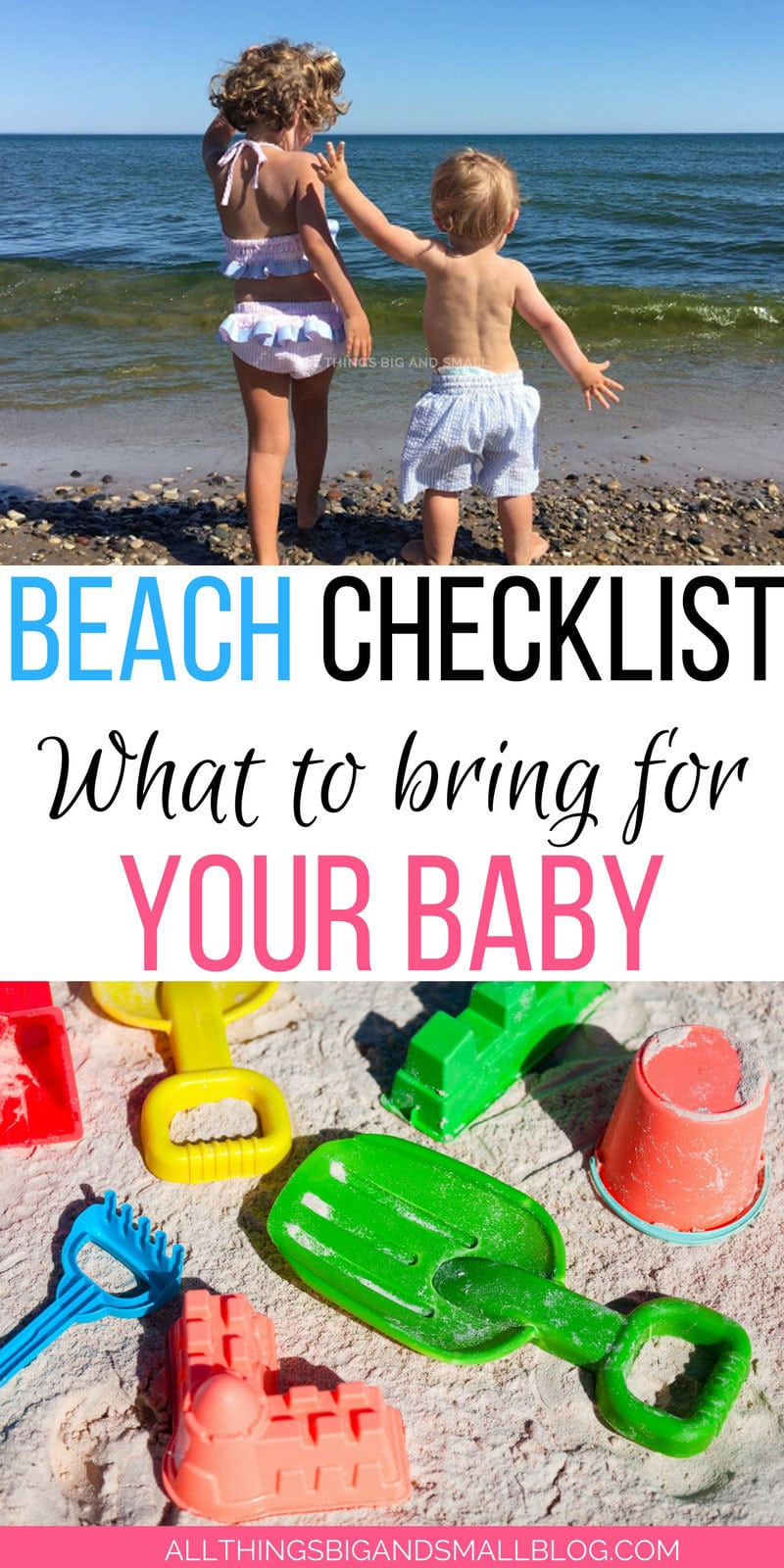 Don't forget these things for a great day at the beach with baby | Beach Essentials for Baby & Kids: How to Not Lose Your Mind or Feel Like a Sherpa by popular mom blogger DIY Decor Mom