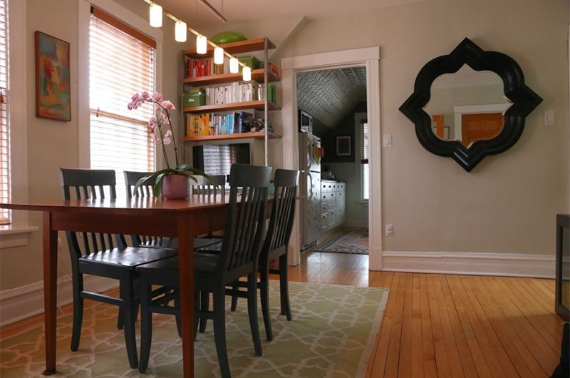 Our House Dining Room & Our DIY Desk