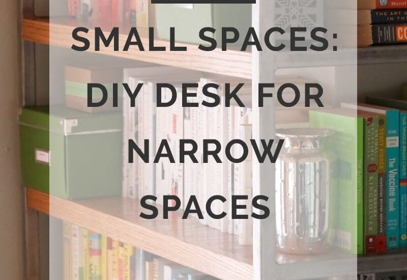 small spaces diy desk