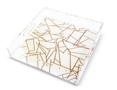 gold lucite tray-