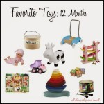 Our Favorite Toys at 12 Months