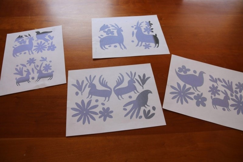DIY Otomi Print Artwork
