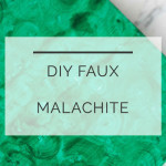 DIY Faux Malachite Box