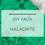 DIY Faux Malachite Box