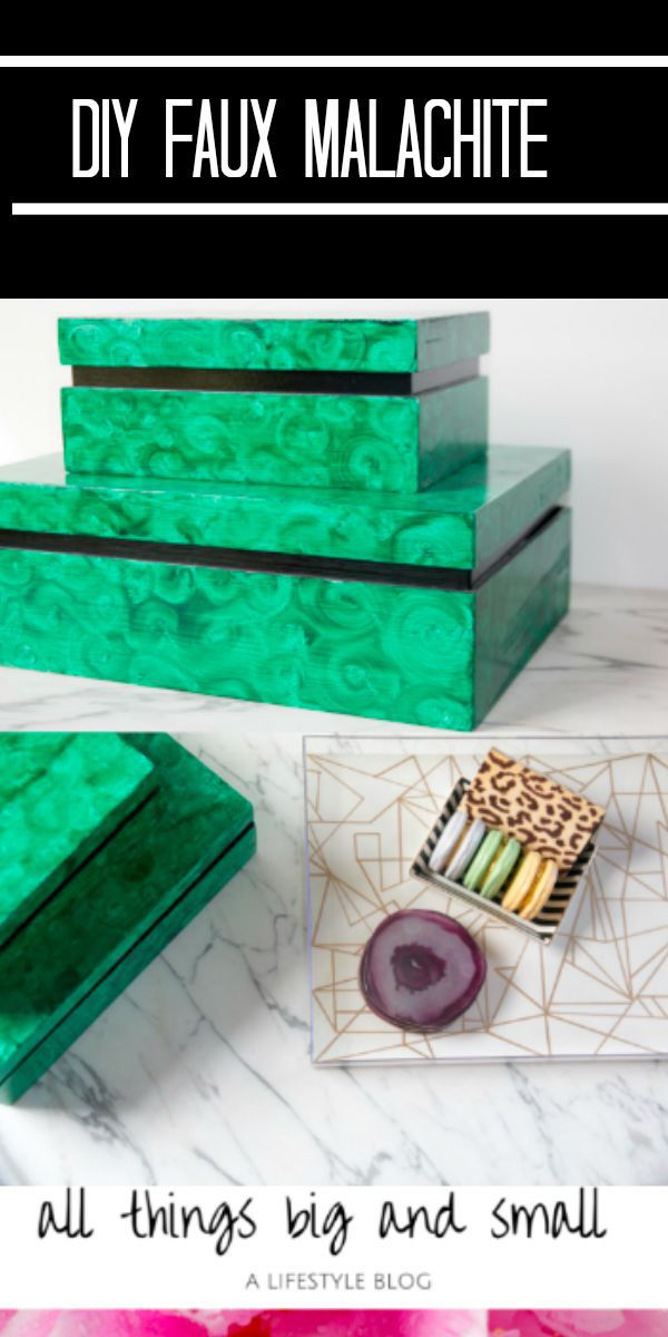 diy faux malachite