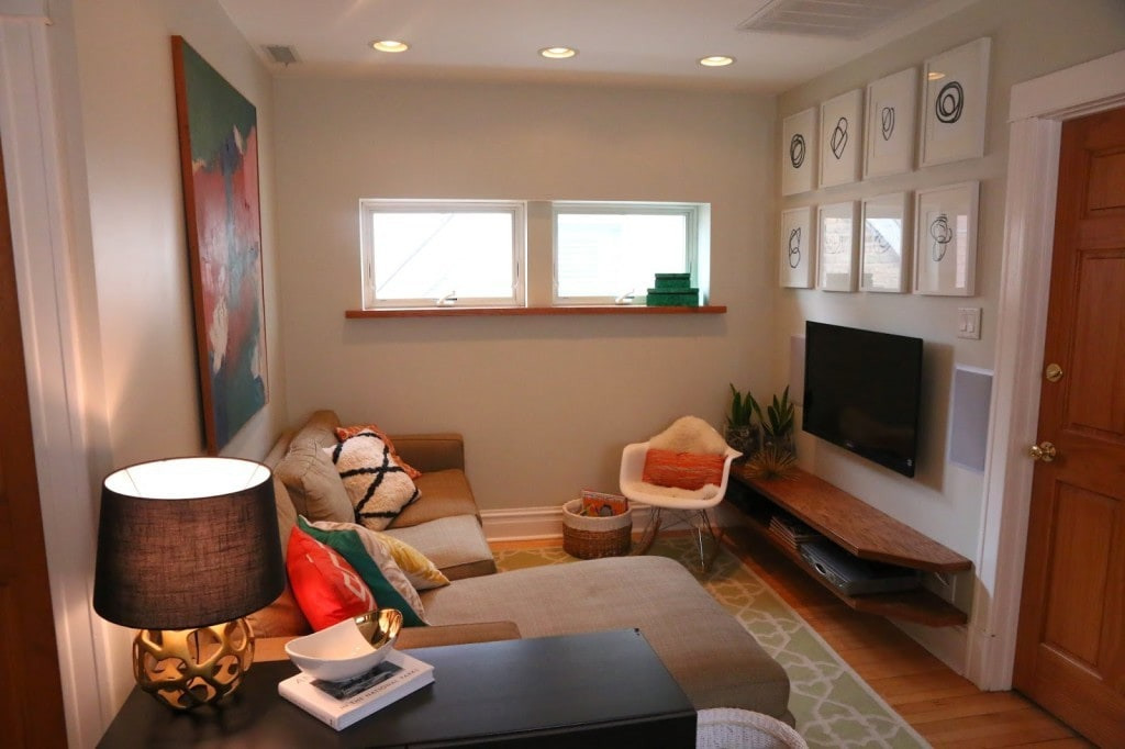 Small Space Living Media Console Room