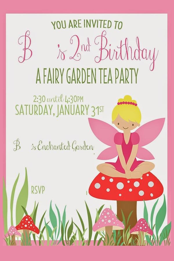 B's 2 Yr Pixie Birthday Party