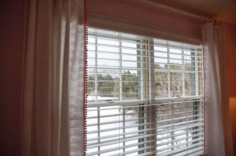 DIY Pom Pom Curtains