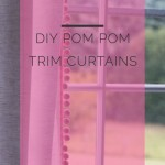 DIY Pom Pom Curtains