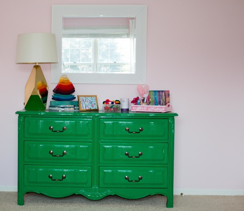 Vintage Dresser Before and After DIY