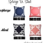 Splurge Vs. Steal ON SALE PILLOWS