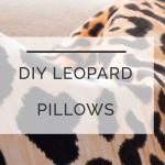 DIY Leopard Pillows