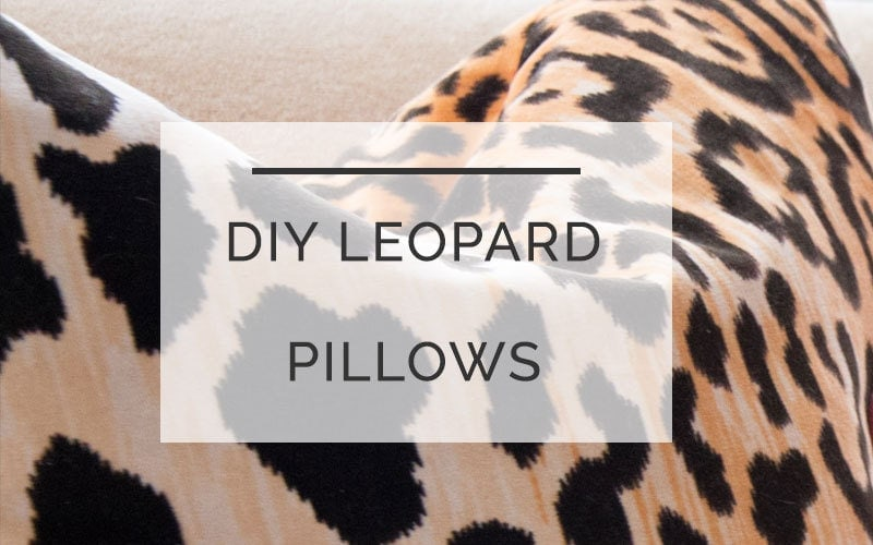 diy leopard pillow