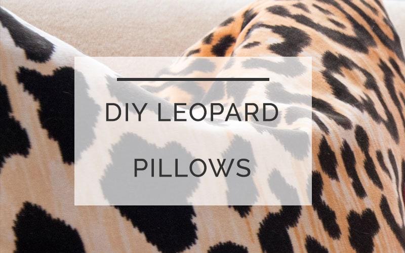 diy leopard pillow