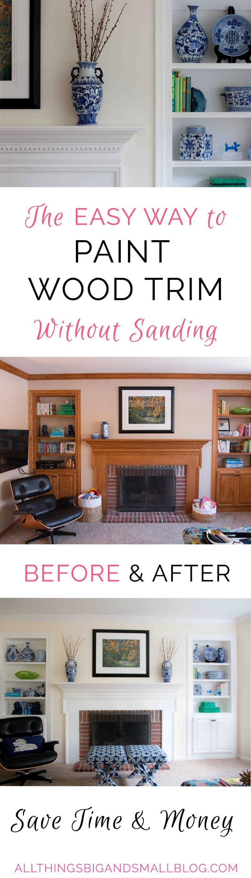Painting Wood Trim Without Sanding The Ultimate Tutorial By Diy Decor Mom