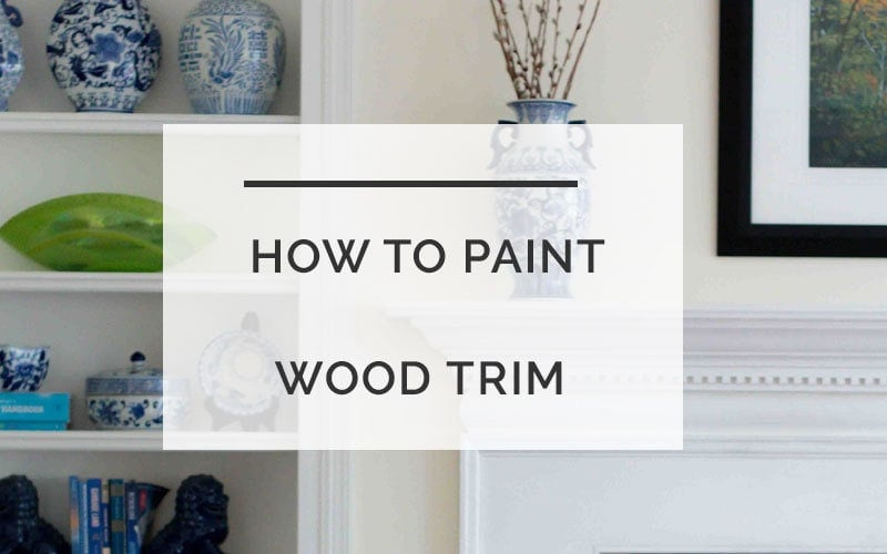 How to paint wood trim white - Painting Wood Trim Without Sanding by popular home decor blogger DIY Decor Mom