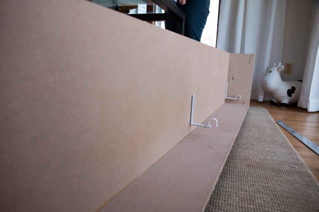 DIY WIndow Valance Box and Cornice Board with Ikea curtain brackets and MDF board