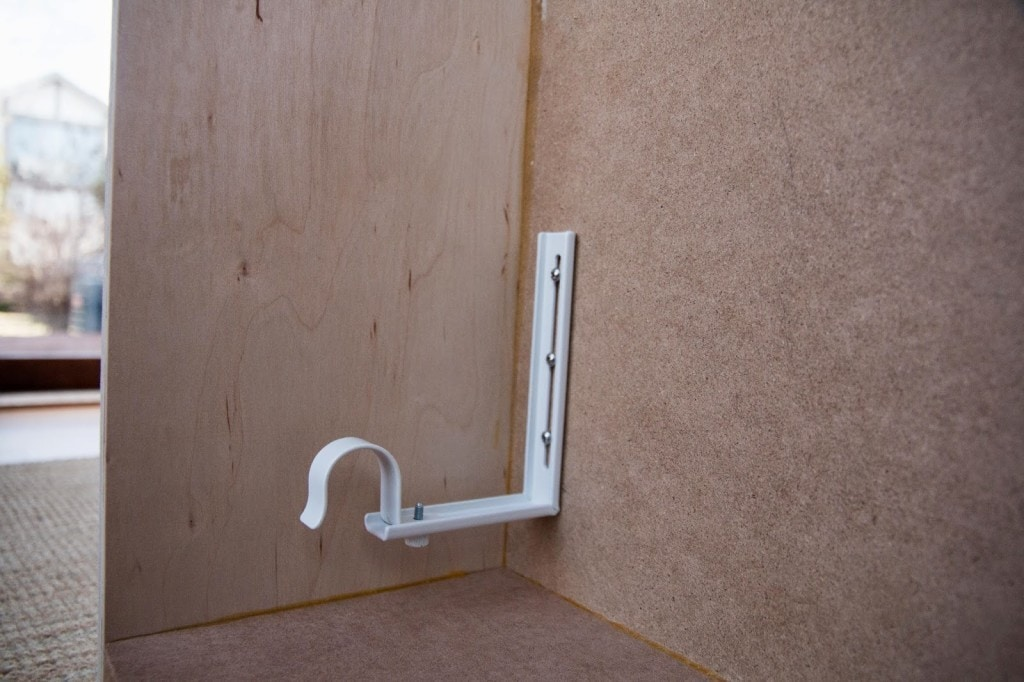 windox box valance inside showing how to mount curtain brackets