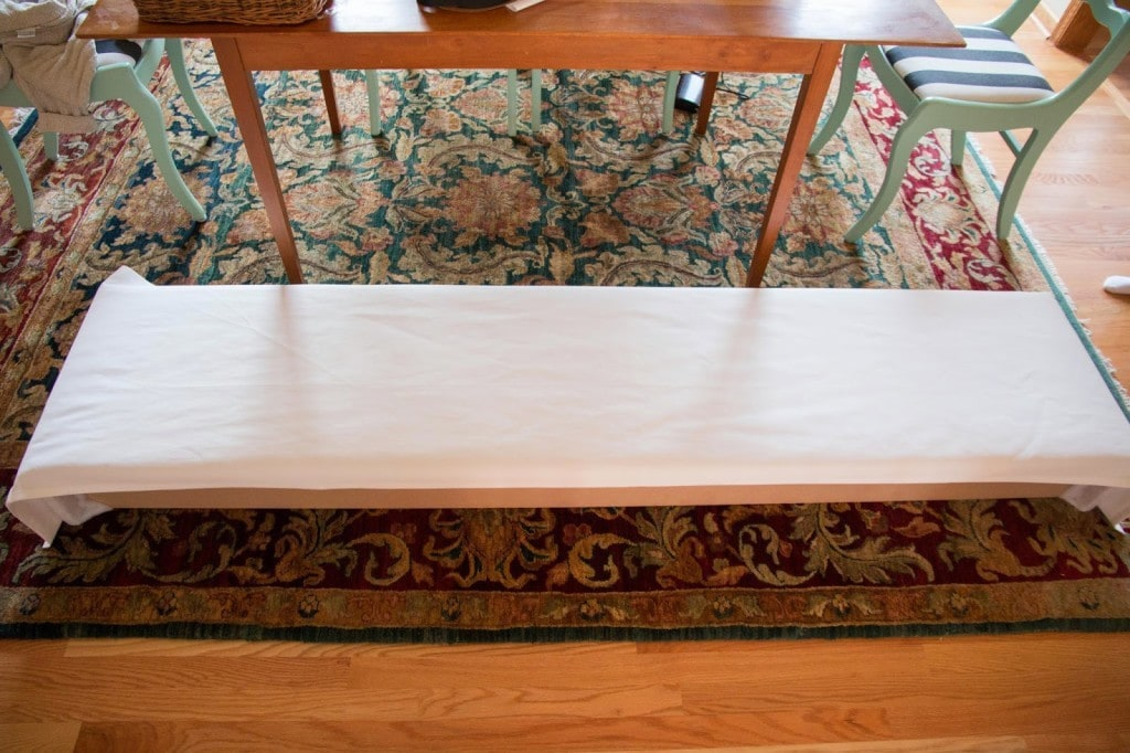how to make a diy window valance box using MDF board and curtains
