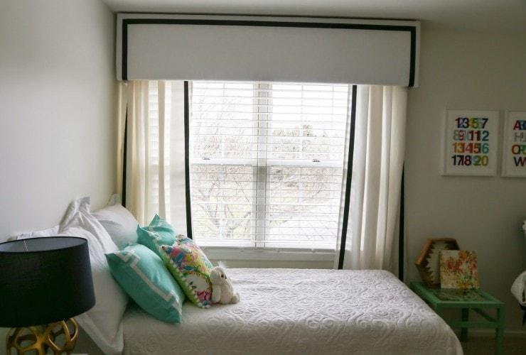 DIY Nursery Curtains with Pelmet Box