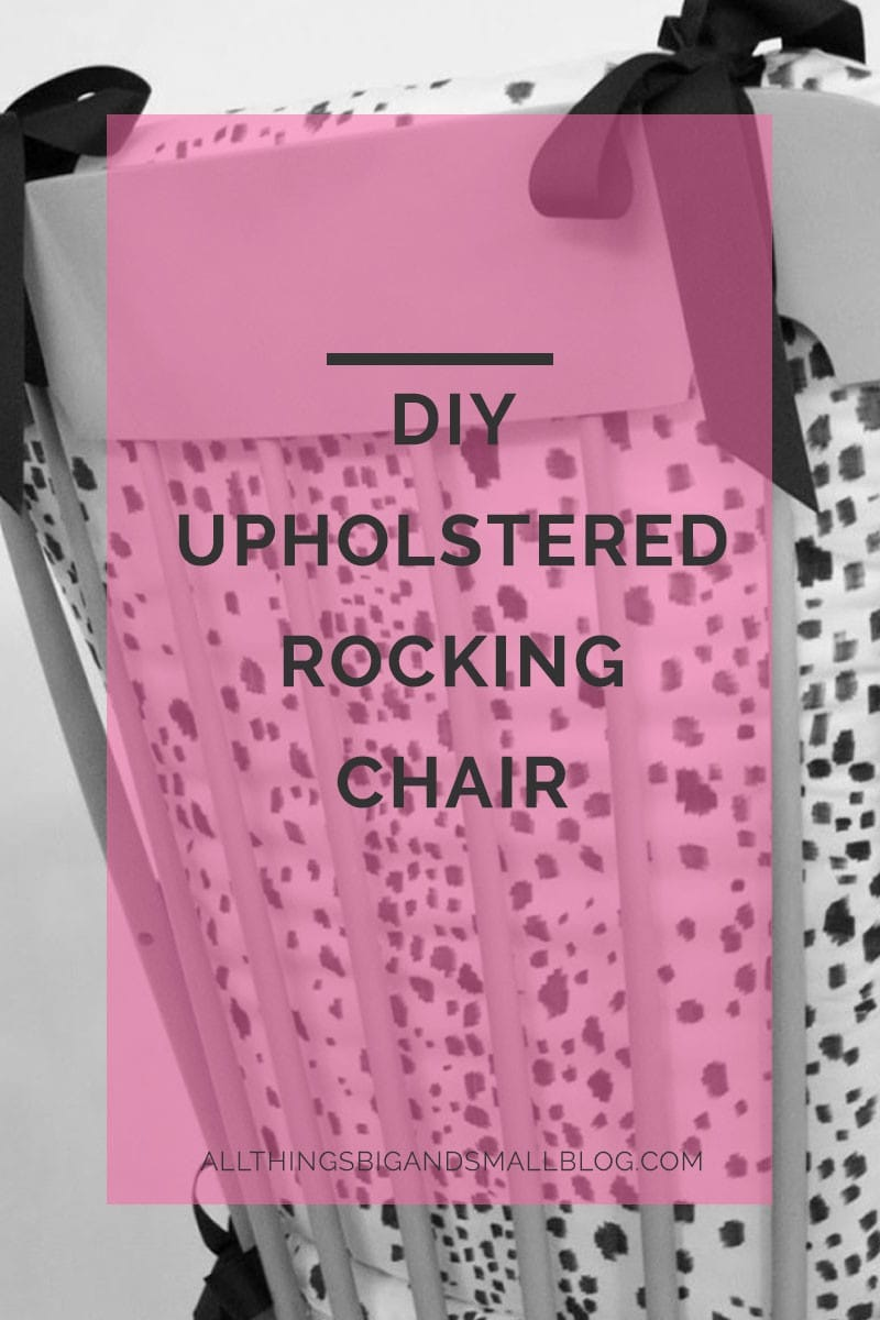diy upholstered rocking chair
