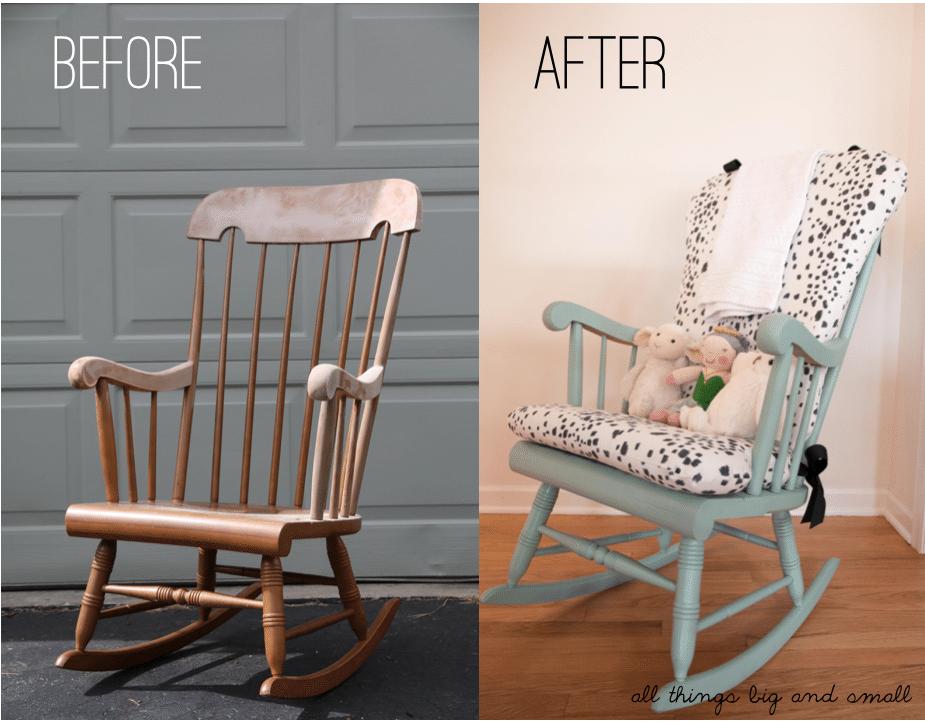 Diy upholstered rocking chair home decor diy decor mom - Rocking chair cushion diy ...