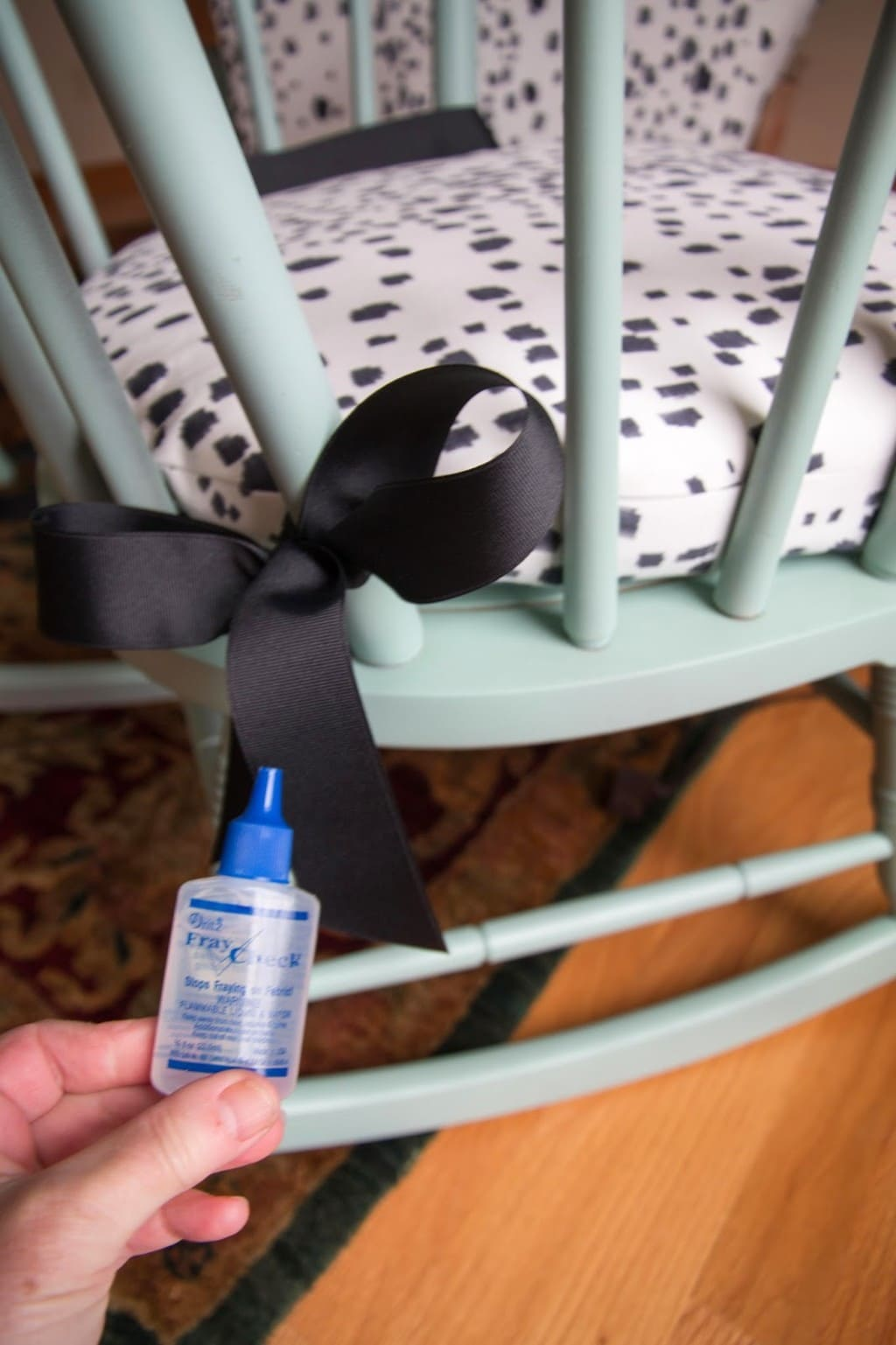 DIY Upholstered Rocking Chair by home decor blogger DIY Decor Mom