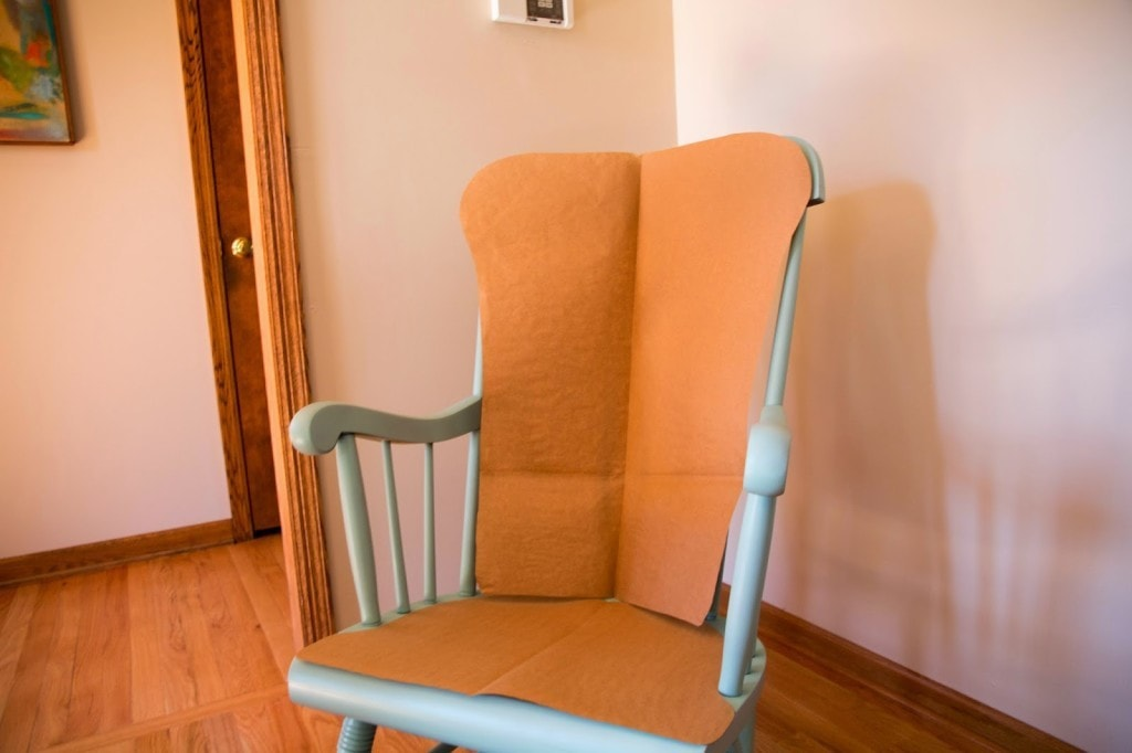 template for DIY Upholstered Rocking Chair by home decor blogger DIY Decor Mom