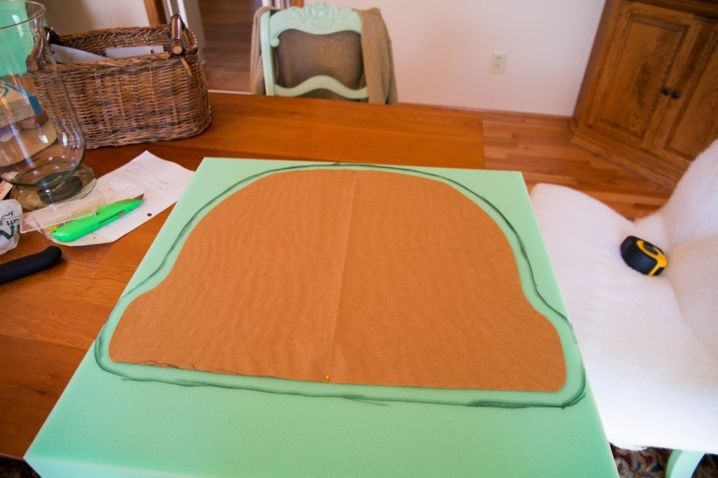 making upholstered rocking chair cushion | DIY Decor Mom