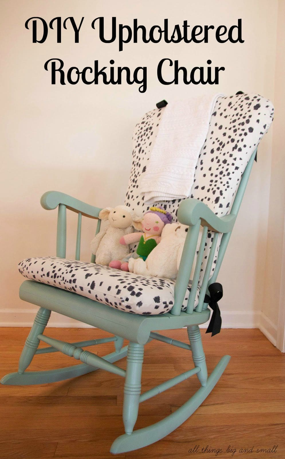 diy les touches upholstered rocking chair. Black Bedroom Furniture Sets. Home Design Ideas