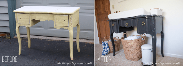 Before and After Vintage Changing Table