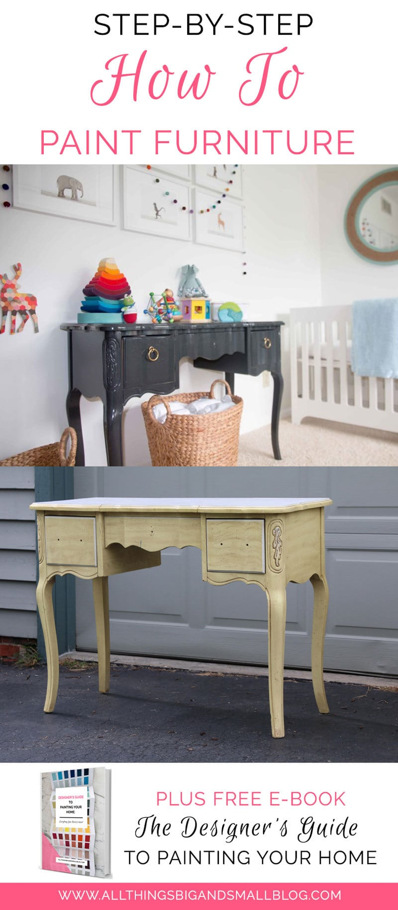 how to paint furniture | DIY paint furniture step-by-step tutorial for beginners | All Things Big and Small