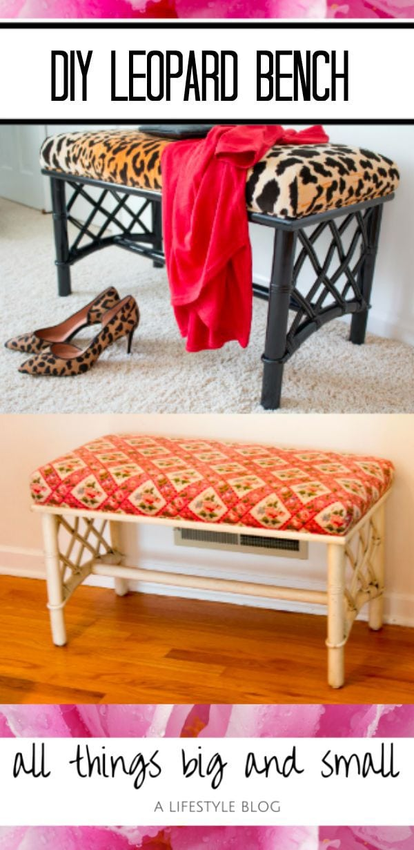 DIY Leopard Chinoiserie Bench