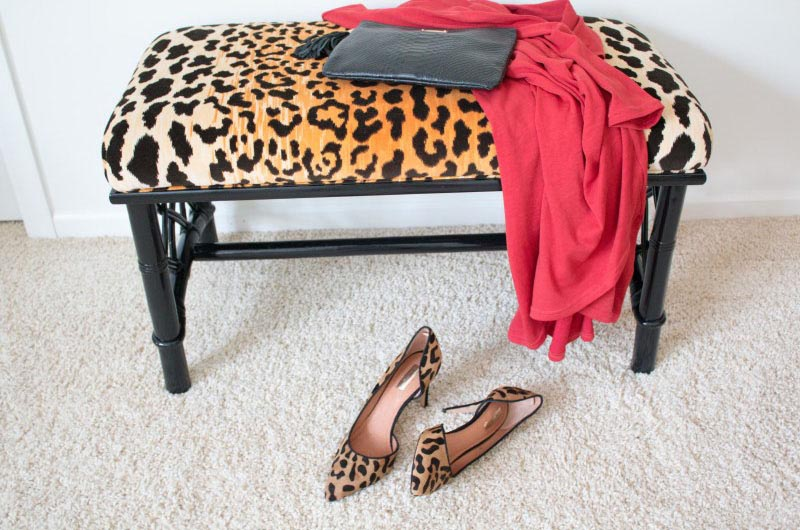 DIY Leopard Chinoiserie Bench 5