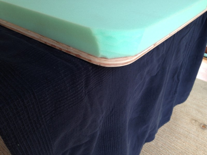 DIY Pink Buffalo Check Upholstered Headboard 1 - DIY Upholstered Headboard Buffalo Check by popular home decor blogger DIY Decor Mom