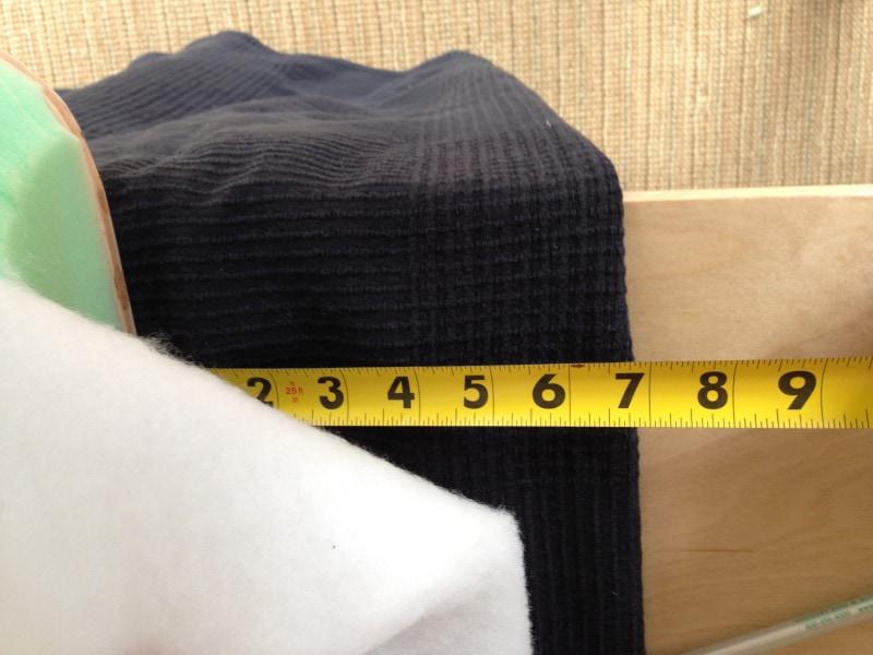DIY Pink Buffalo Check Upholstered Headboard