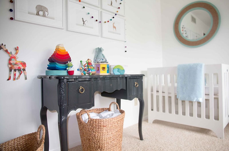 add color to neutral nursery