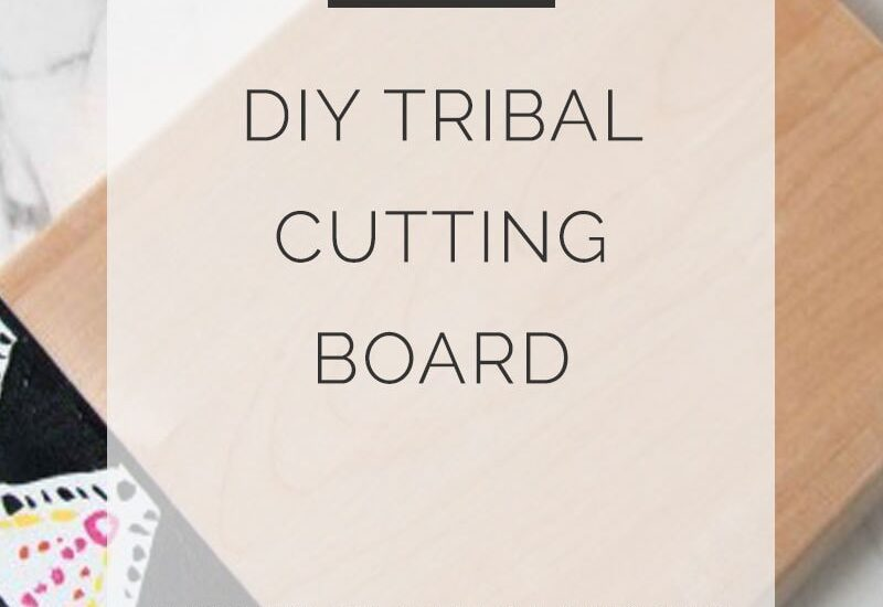 diy tribal cutting board