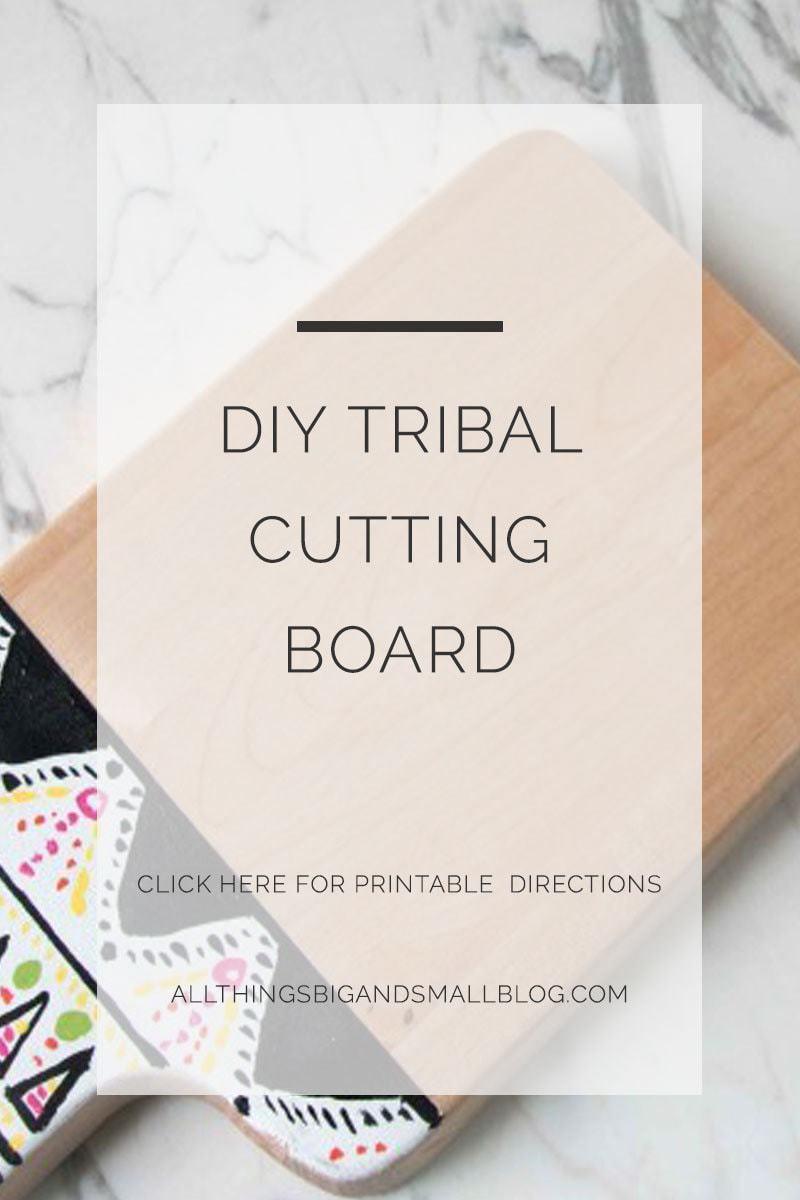 diy tribal cutting board