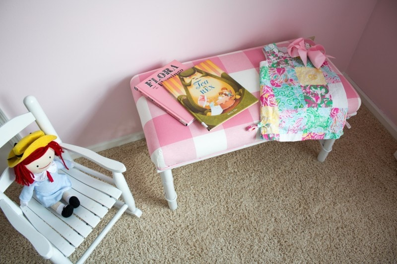 Step-by-Step DIY Upholstered Buffalo Check Bench